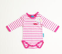 Eggkids body white with pink stripes