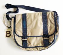 Bensimon bag beige with darkblue details