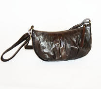 Beck Söndergaard Small bag of eel-skin dark brown