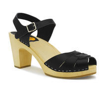 Swedish hasbeens Peeptoe sky high black